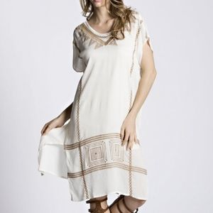 Dresses & Skirts - Boho Long Embroidered Cover-up Dress